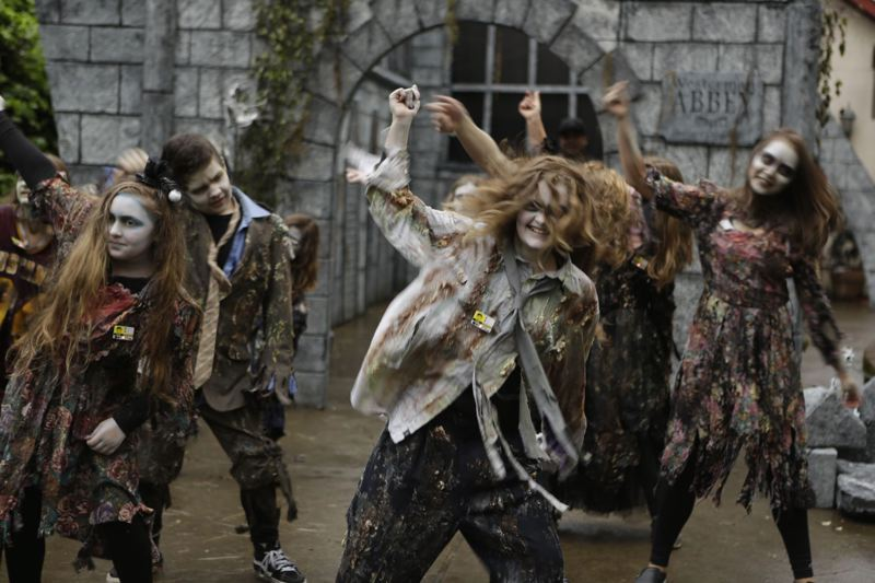 TRIBUNE FILE PHOTO: ALVARO FONTAN - The Davis Graveyard in Southeast Portland is a popular attraction during the weeks and days ahead of Halloween.
