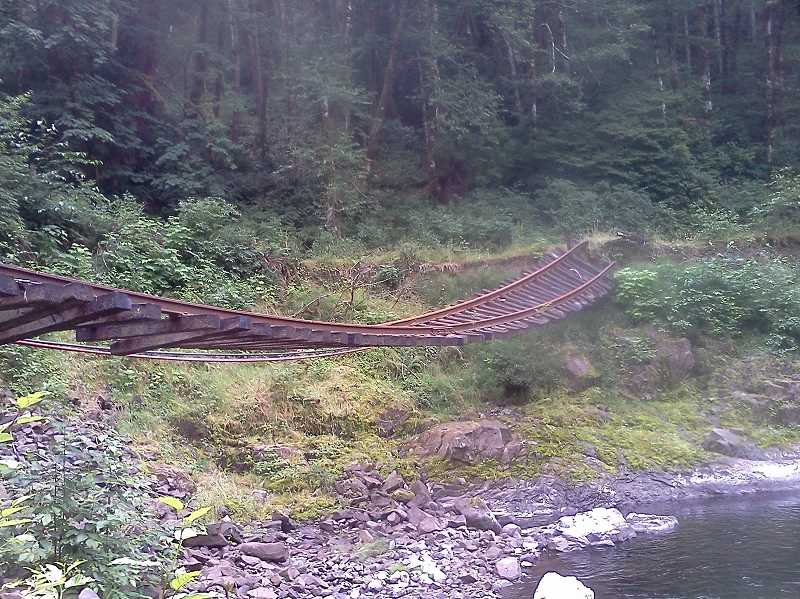 COURTESY PHOTO - The Salmonberry Trail will span from Banks to the Oregon Coast, built atop old railroad lines.