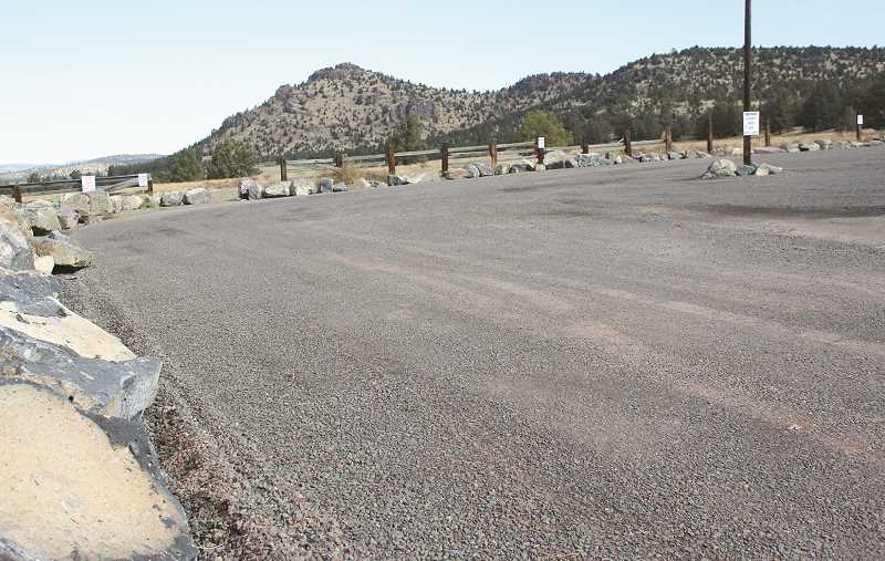 JASON CHANEY - The grand opening for the city-owned IronHorse property will be held in the gravel parking lot shown above, which can be reached by continuing north on Combs Flat Road past Barnes Butte Elementary.