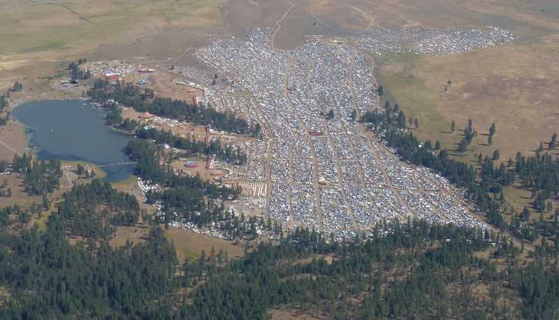PHOTO COURTESY OF PRINEVILLE POLICE DEPARTMENT - The Symbiosis eclipse and music festival was permitted to host 30,000 people, however law enforcement personnel estimate the event drew more than 70,000.