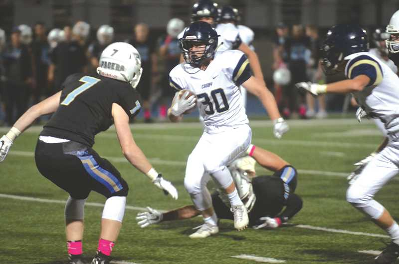 HERALD PHOTO: TANNER RUSS - Canby running back Steven Dale scored one of Canby's two touchdowns in their 46-14 loss to Lakeridge on Oct. 6.