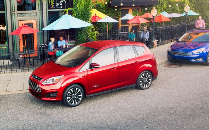 FORD MOTOR COMPANY - The 2017 Ford C-Max Energi is an attractive small wagon that will travel about 20 miles in electricity along before switching over to hybrid power.