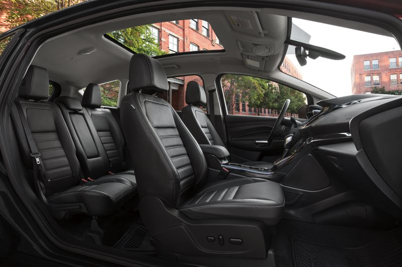 FORD MOTOR COMPANY - The 2017 Ford C-Max Energi can be loaded up with luxury feature, including leather seat a sun roof.
