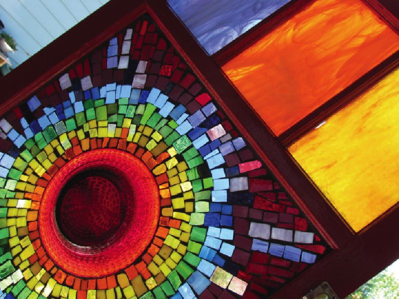 SUBMITTED PHOTO - 'Creative Explosion' is just that: an explosion of colors in an eye-catching mosaic by Darla Lynn.