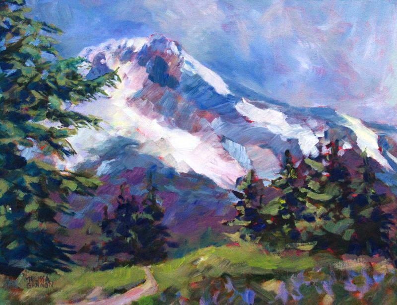 SUBMITTED PHOTOS - 'Alpine' is a watercolor piece painted by Gladstone resident and teaching artist Melissa Gannon.