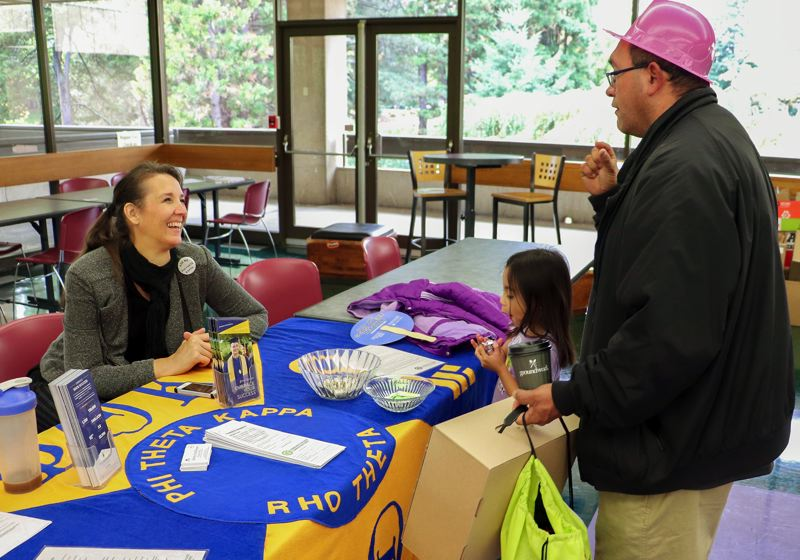 CONTRIBUTED PHOTO: NICHOLAS GOSLING - The Community Conservation and Repair Fair at Mt. Hood Community College was a hit for visitors of all ages.