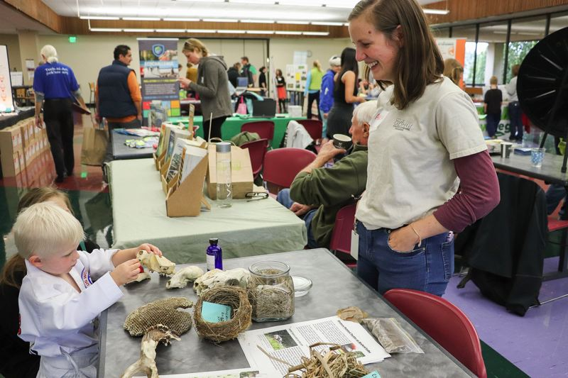CONTRIBUTED PHOTO: NICHOLAS GOSLING - During the event there were 30 stations set up by exhibitors which showcased conservation topics.