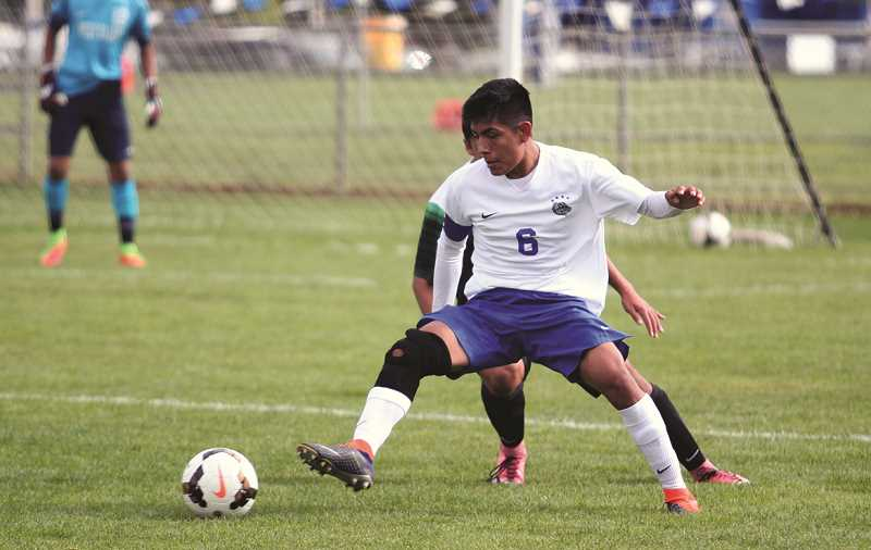 PHIL HAWKINS - Woodburn junior Salvador Perez notched a goal in the 44th minute of the Bulldog'; 6-3 win over West Salem on Saturday.