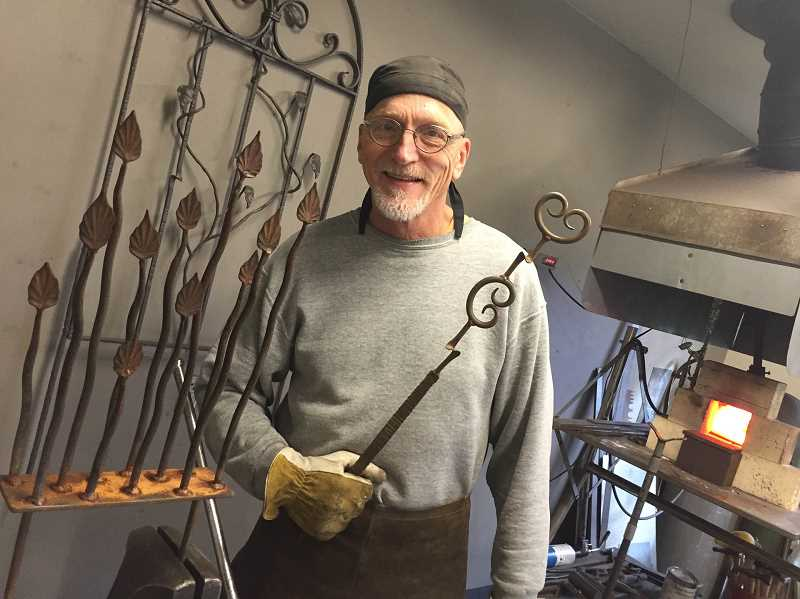 COURTESY PHOTO - Tim Gabriel's forged metal workshop in Hillsboro will be open during the Washington County Open Studios tour.