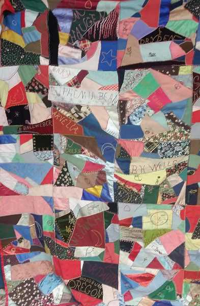SUBMITTED PHOTOS - The Old Aurora Colony Museum is seeking information about the women who created this quilt 80 years ago.