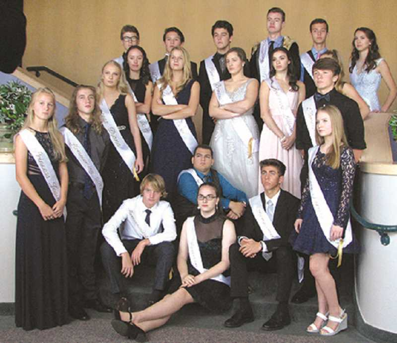 The Canby High School homecoming court.