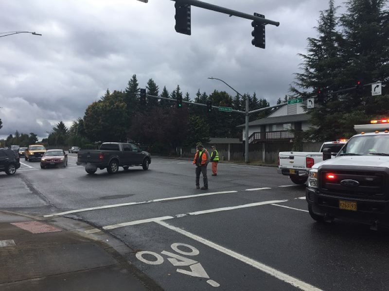 KOIN 6 NEWS PHOTO - A two-car crash left at least one person dead in Troutdale on Wednesday, Oct. 11.