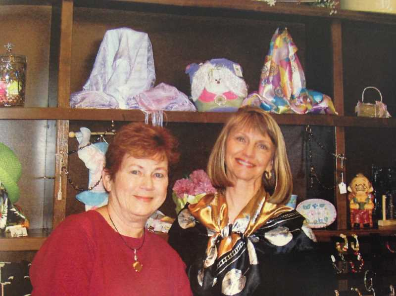 SUBMITTED PHOTO  - Sally Olson, left, and Veronica Ferenz have long histories of keeping the West Linn Adult Community Centers gift shop in tip top shape. The gift shop is now called the Little Shop on Rosemont.