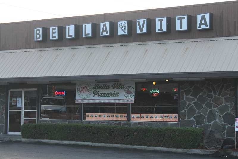 PIONEER PHOTO: CONNER WILLIAMS - Bella Vita Pizzaria is located at 111 East Main Street in downtown Molalla.