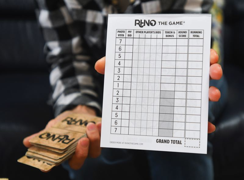 OUTLOOK PHOTO: JOSH KULLA - The 'Rhino' scoring card gives an idea of the mathematical complexity of the game.