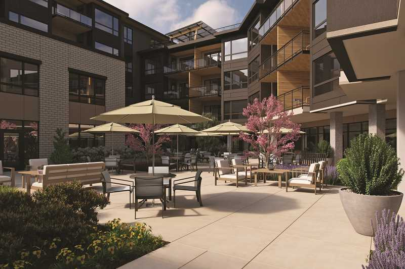 PHOTO COURTESY OF THE SPRINGS LIVING - The Springs at Lake Oswego will feature numerous ammenities, including a formal dining area and kitchen, a wine bar, a dog park, gardening space and rooftop and ground-level patios.