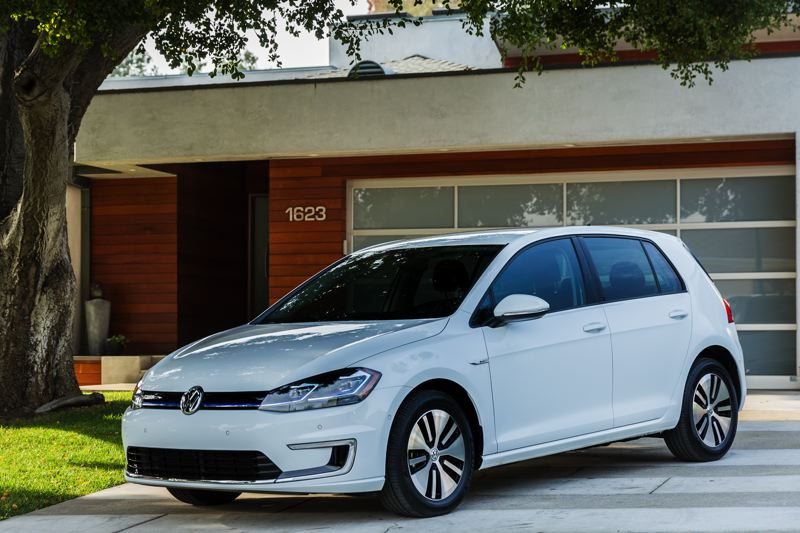 VOLKSWAGEN OF AMERICA - Like its gas-powered counterpart, The 2017 VW e-Golf is one of the best looking compacts out there, with sharp exterior styling and unique alloy wheels.