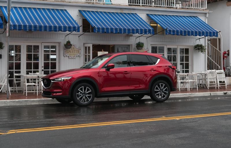 COURTESY MAZDA - Mazda's corporate KODO Soul of Motion design philosophy results in beautiful vehicles, like the recently updated 2017 Mazda CX-5.