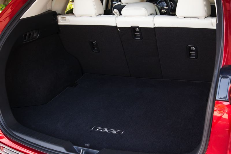 COURTESY MAZDA - The 2017 Mazda CX-5 has ample storage space behind the rear seats — and more when they are folded down.