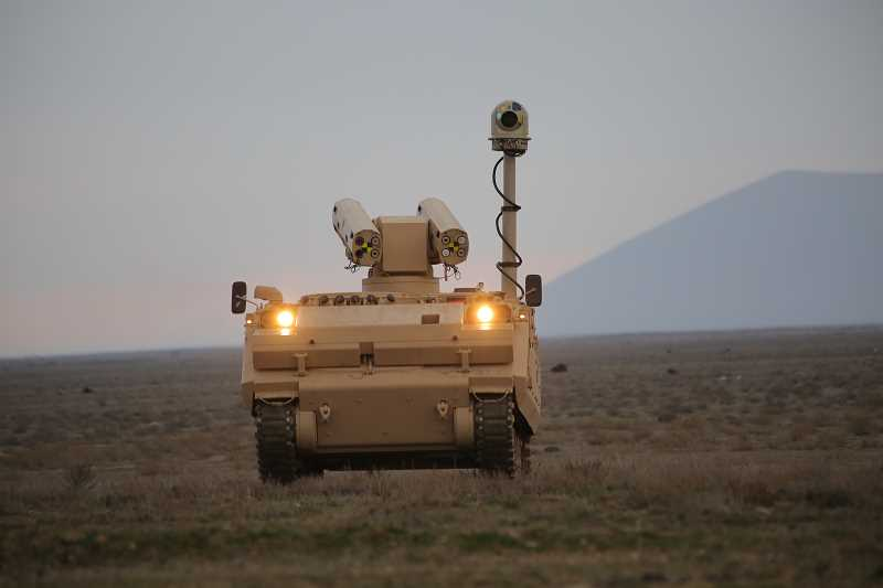 SUBMITTED PHOTO - The TacFLIR camera, seen mounted on the pole on the right of the vehicle, is expected to be invaluable in armed conflict areas.
