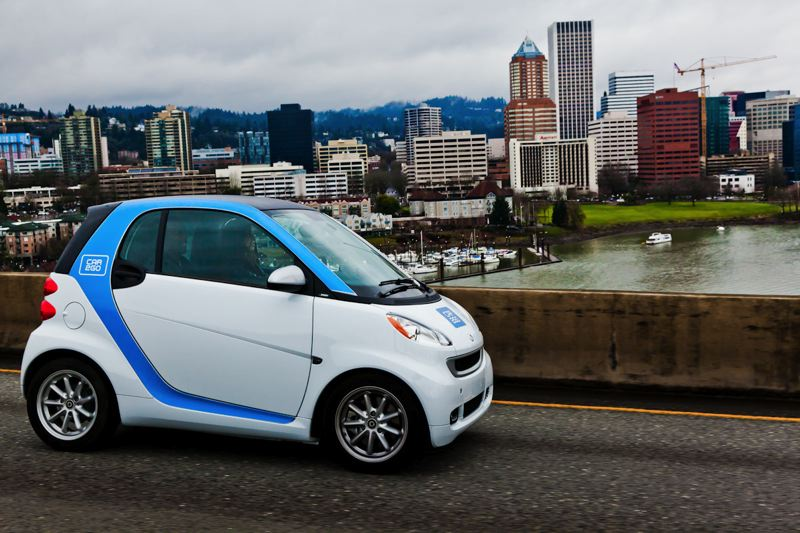 COURTESY: CAR2GO - Marquam down: Car2Go's remaining smart cars in Portland will be sold off at dealer auctions.