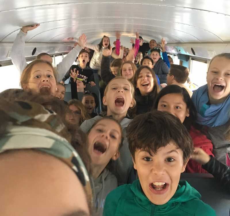 SUBMITTED PHOTO: CATHERINE MELTON -  How do sixth-graders feel about getting out of their regular classrooms for a week at Outdoor School? Just ask these students from Lakeridge Junior High.