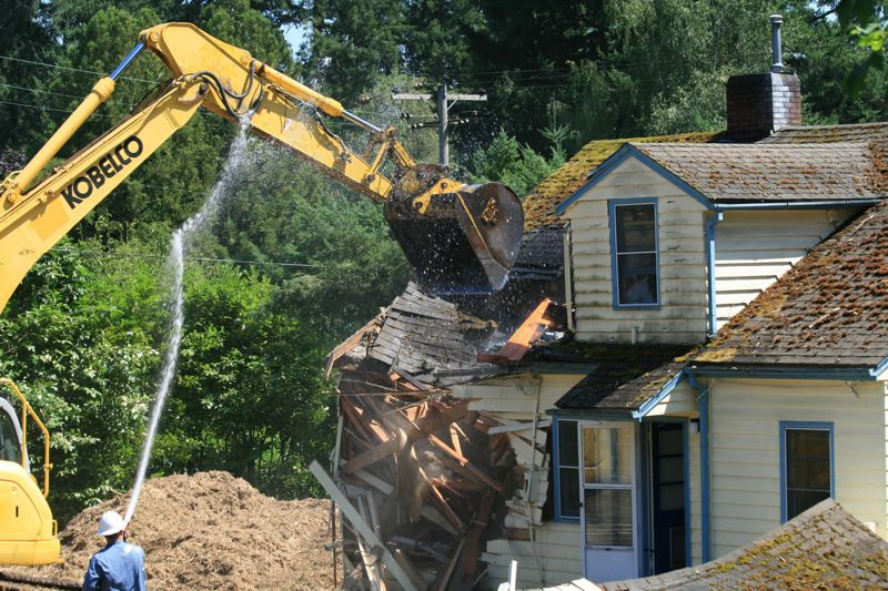 PAMPLIN MEDIA GROUP: FILE PHOTOS - Homes being demolished will now see changes to the demolition permit process that include giving the City a copy of the asbestos survey and notice of intent to abate, which before Senate Bill 871 was under in the jurisdiction of the DEQ and OSHA.