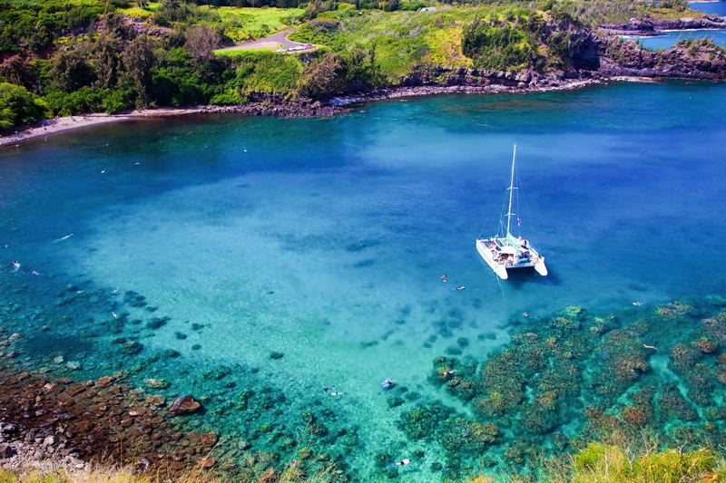 CONTRIBUTED - Honolua Bay in northern Maui offers some of the most clear and calm water for snorkelers. But go early, because parking is limited and don't forget to bring $5 for the fee to cross a local Hawaiian's front yard.