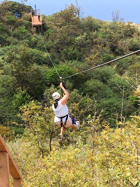 CONTRIBUTED - Ziplining in Ka'anapali provides you with a stunning view of the ocean as your fly your way between mountain peaks.