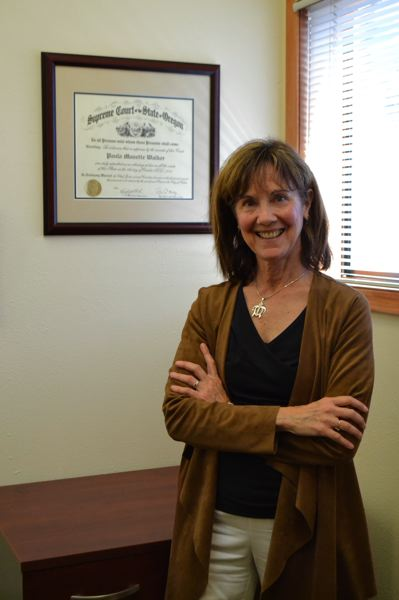 POST PHOTO: BRITTANY ALLEN - Paula Walker opened her law practice at 24461 E.WelchesRd., Welches on Monday, Oct. 18.