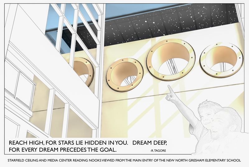 BBT ARCHITECTS - The new library will honor the North Stars theme with a tasteful star motif on the ceiling.