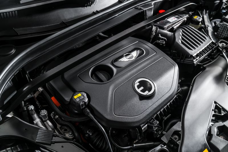 BMW OF NORTH AMERICA - Under the hood of the 2018 Mini Cooper S E Countryman ALL4 is a turbocharged 1.5-liter inline three cylinder engine and electric motor.