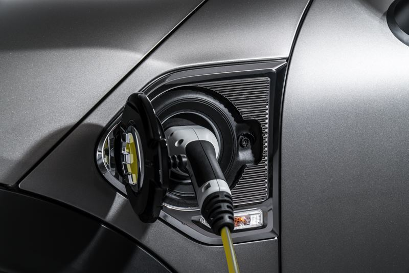 BMW OF NORTH AMERICA - The charging port on the 2018 Mini Cooper S E Countryman ALL4 is conveniently located on the front fender.