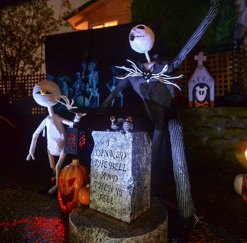 OUTLOOK PHOTO: JOSH KULLA - Jack Skellington of A Nightmare Before Christmas is a prominent feature of Pumpkin Acres.