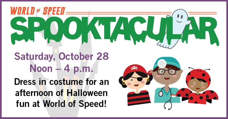 COURTESY WOS - Halloween Spooktacular Family Event Day is Saturday, Oct. 28, noon-4 p.m., at the World of Speed.