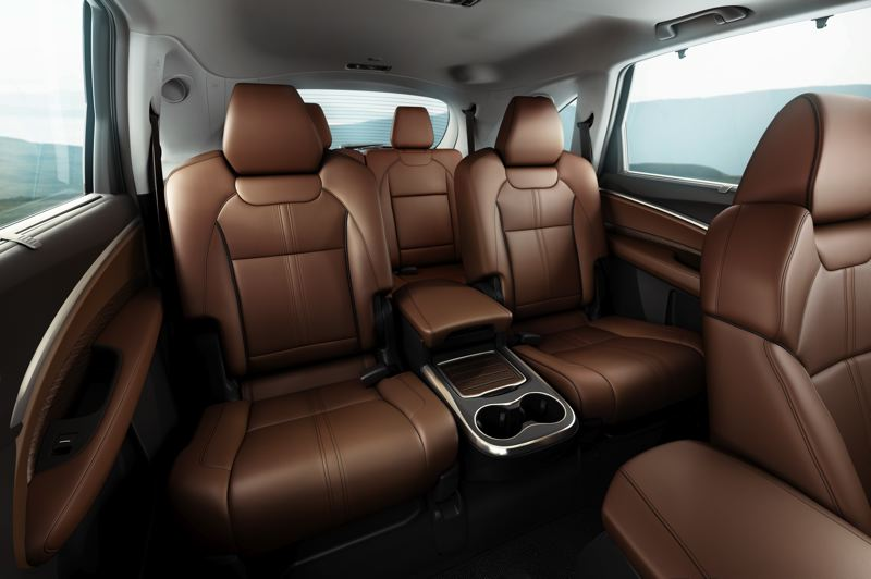 HONDA NORTH AMERICA - The MDX provides three rows  of seats with room for six or seven passengers, depending if you choose a second-row bench seat or captain's chairs.