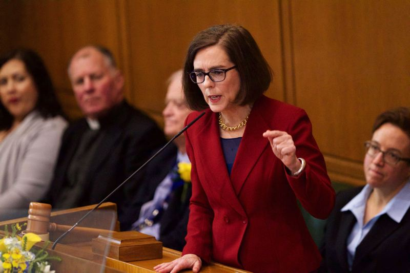 TRIBUNE FILE PHOTO - Governor Kate Brown at her inaugural address in January.