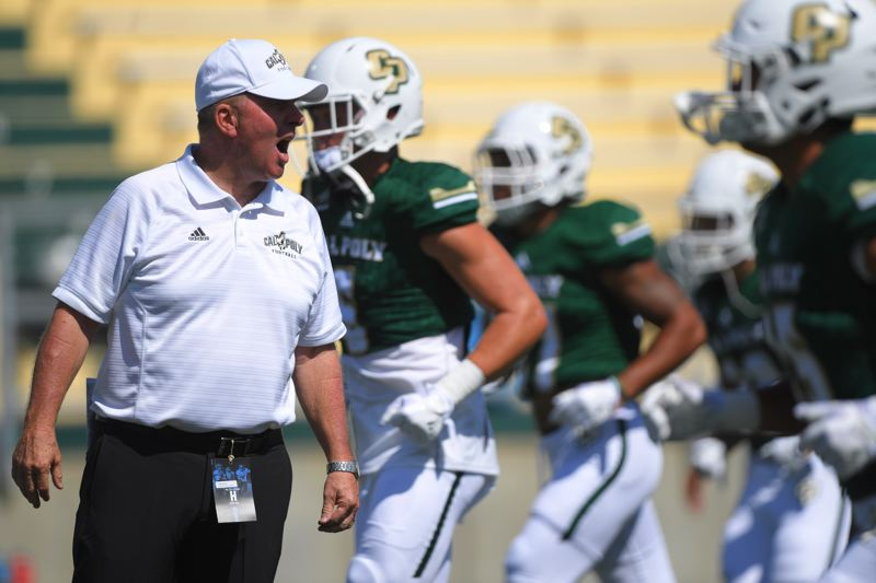 COURTESY: CAL POLY - Coach Tim Walsh and the Cal Poly Mustangs will battle another winless tean, the Portland State Vikings, on Saturday in San Luis Obispo, Calif.