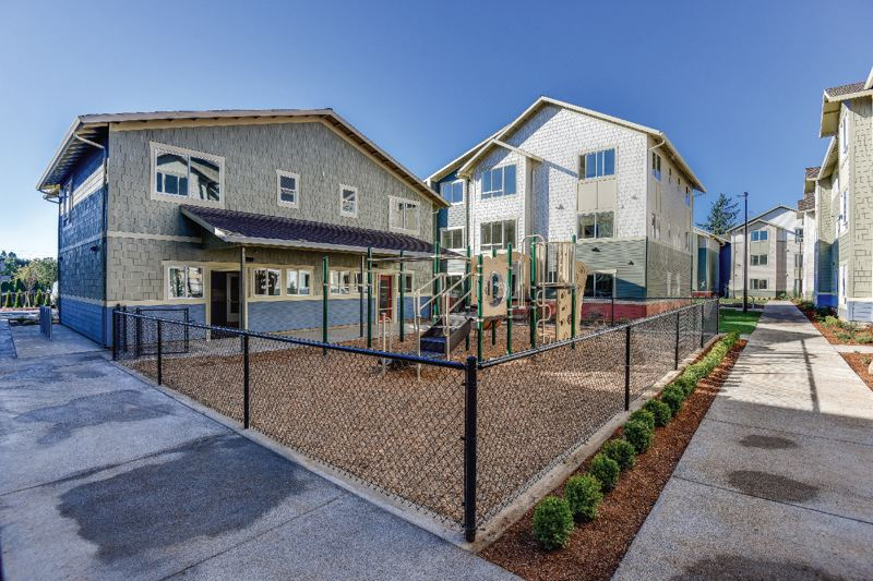 COURTESY RELAY RESOURCES - The newly completed Maple Vine apartment complex was built without direct government funding and includes 148 units ranging from $535 to $868 a month.