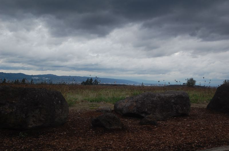 PHOTO BY RAYMOND RENDLEMAN - Brooding clouds and stunning views greet visitors to the proposed site of Prestige Senior Living on the eve of its annexation request before Happy Valley voters.