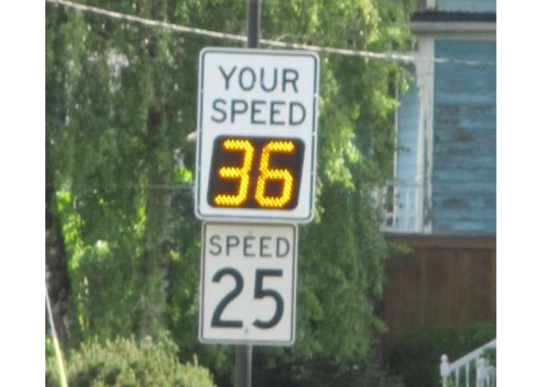 SUBMITTED PHOTO - Even with a low speed limit on Washington Street, drivers often exceed the limit by more than 10 mph.