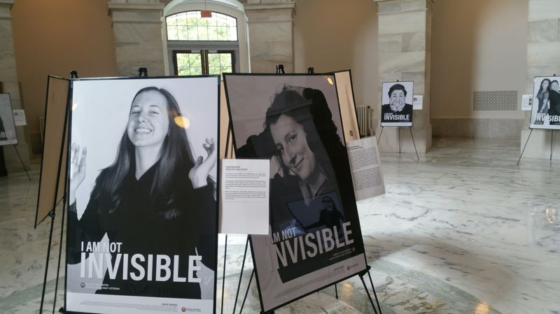 COURTESY PHOTO - The 'I Am Not Invisible' photo exhibit of Oregon women veterans was displayed at the U.S. Capitol.