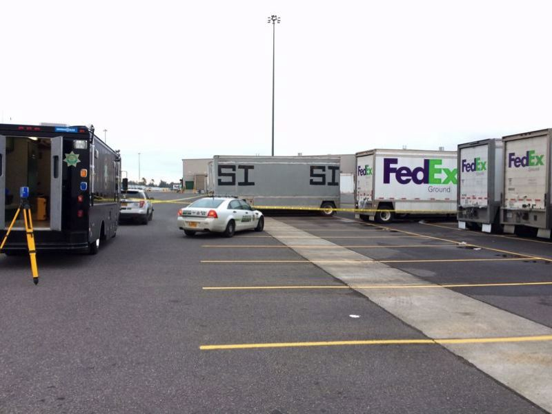 MCSO PHOTO - Police have not released the name of a contractor who was pinned between two semis on Saturday, Oct. 14, in Troutdale.
