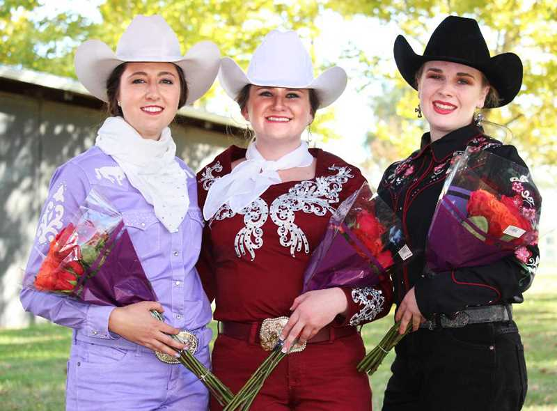 SUBMITTED PHOTO - The 2018 St. Paul Rodeo court consists of Queen Tess Scott (middle) and princesses Maddie Coleman (left) and Alexis Goughnor.