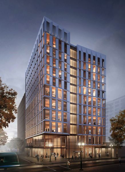 COURTESY OF LEVER ARCHITECTURE - Framework, a cross-laminated timber building going up on Northwest 10th Avenue and Glisan Street in the Pearl District, will be Portland's next iconic building.  At  12 stories, it will be the nation's tallest wooden structure, and one of the tallest in the world.
