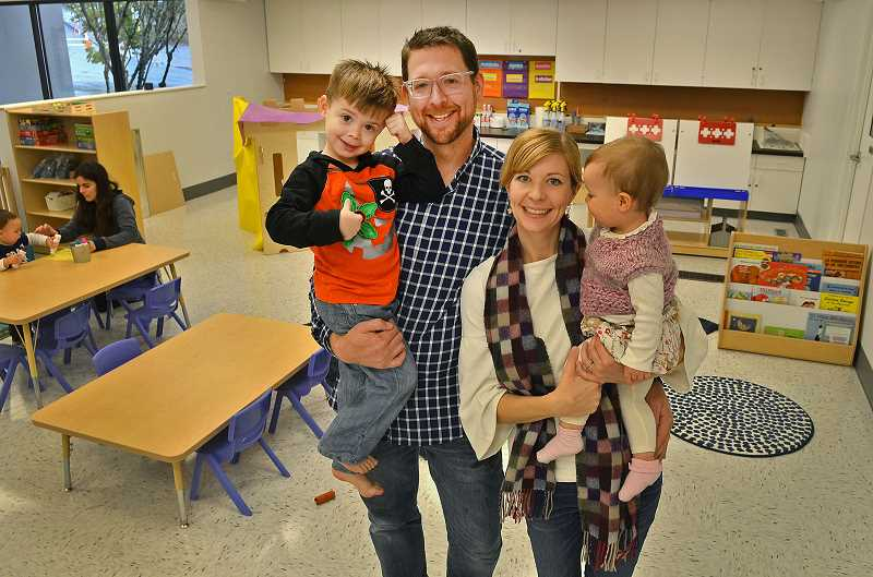 TIDINGS PHOTO: VERN UYETAKE - Jarod and Dory Hobbs have opened Atlas Immersion Academy in West Linn, a Spanish-immersion childcare center.