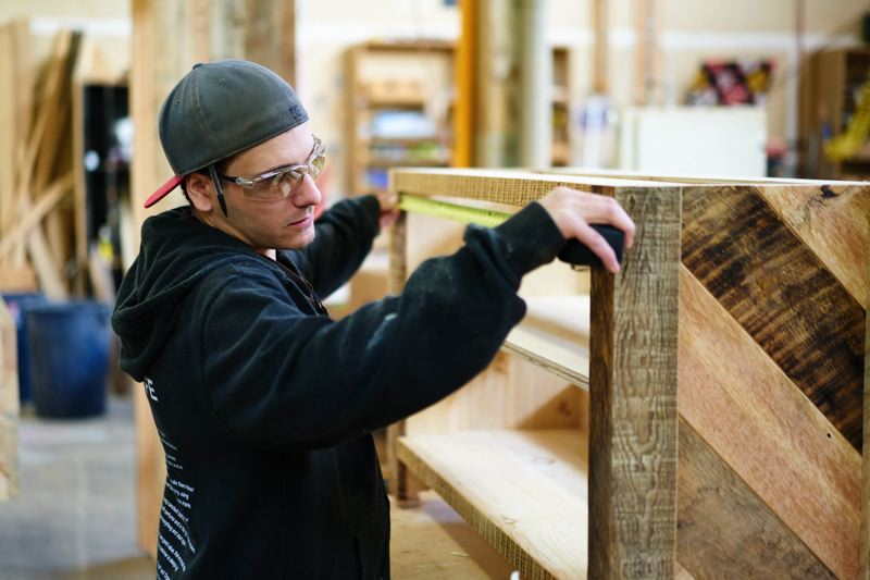 SUBMITTED: LUSH - Lush's in-house woodworking department at work.