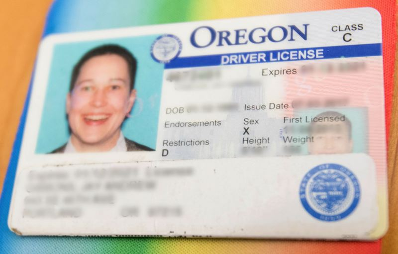 JAIME VALDEZ/PORTLAND TRIBUNE - Southwest Portland resident J Gibbons is one of hundreds of Oregonians who have converted their gender marker to 'X' in the past four months, since Oregon became the first state to offer the third gender choice on identification cards and driver licenses.