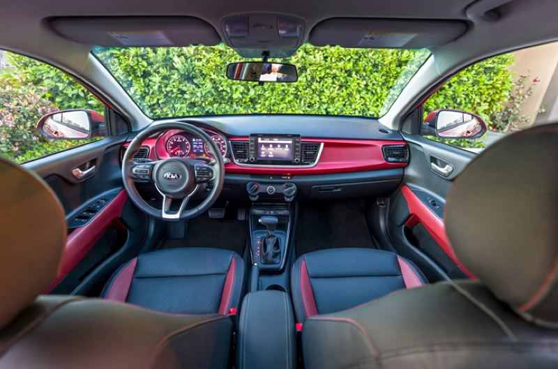 NIA AMERICA MOTORS - The interior of the 2018 Kia Rio is surprisingly roomy and can be outfitted with leather seatds and trim.
