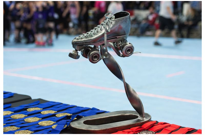 TRIBUNE FILE PHOTO: CHRISTOPHER OERTELL - The trophy given for women's roller derby world surpremacy goes to Melbourne, Australia this year.